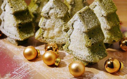 Christmas white chocolate pound cake Matcha 8 into the Christmas gift exchange gifts hand-made dessert gift