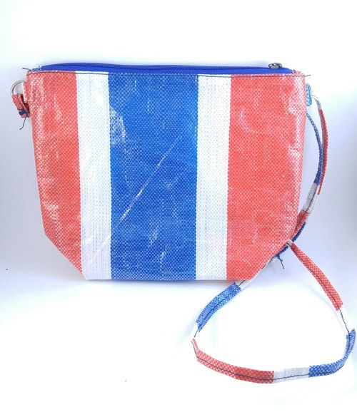 Local Flavor red, white and blue bags