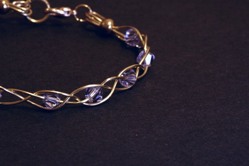 [Littlest Things] Velvet Goldmine series of transparent amethyst bracelet