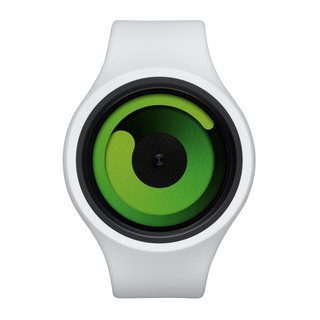 Cosmic gravity + watches GRAVITY PLUS + (white / green, Snow / Green)