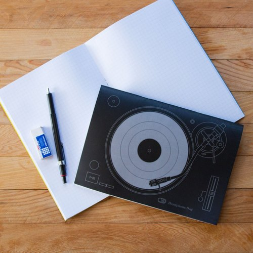 Turntable notebook a group (2 in) - cool texture Blackhand account