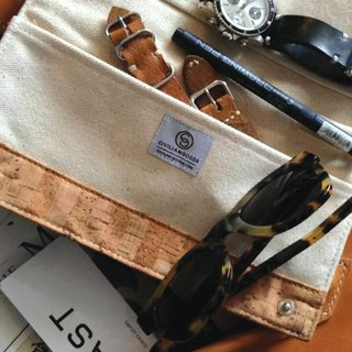 Cork Canvas Travel Pouch