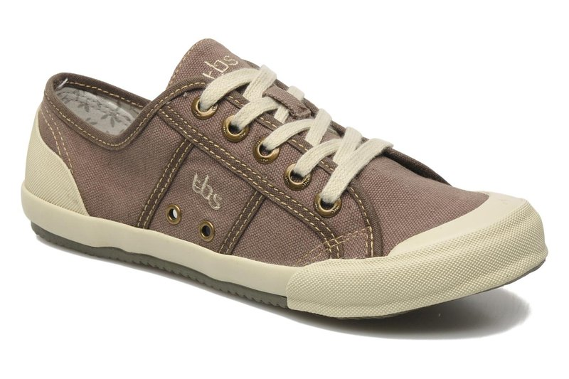 France imported TBS canvas shoes - Opiace washing chocolate 36