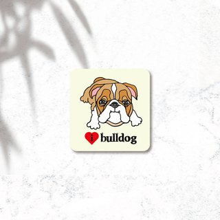 PL illustration design - waterproof dog stickers - Bulldog