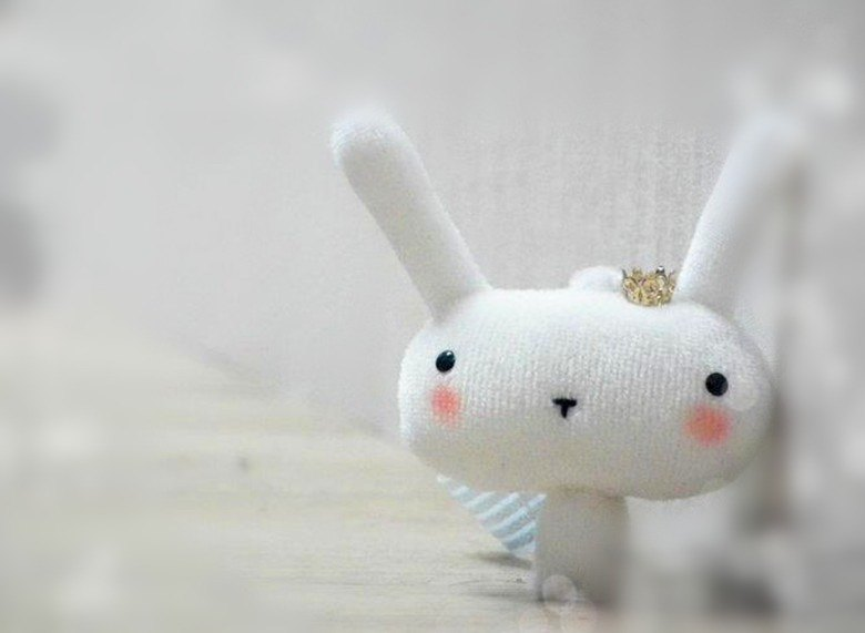 Bucute wipe the phone screen ┃ Buluo rabbit phone strap attached headphone plug ┃ ┃ gift