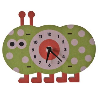Modern moose-3D wall clock-caterpillar clock