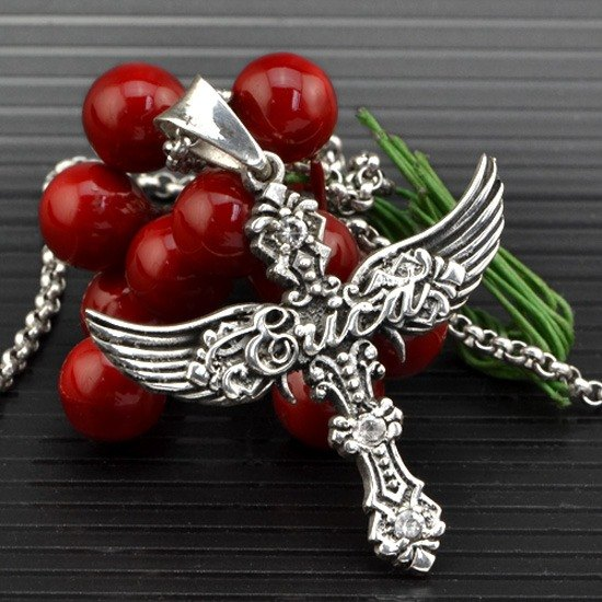 Wings Customized .925 sterling silver jewelry PS00025- Angel Pendant + character frame