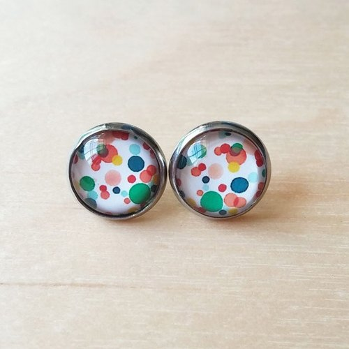 Color Bubble design earrings