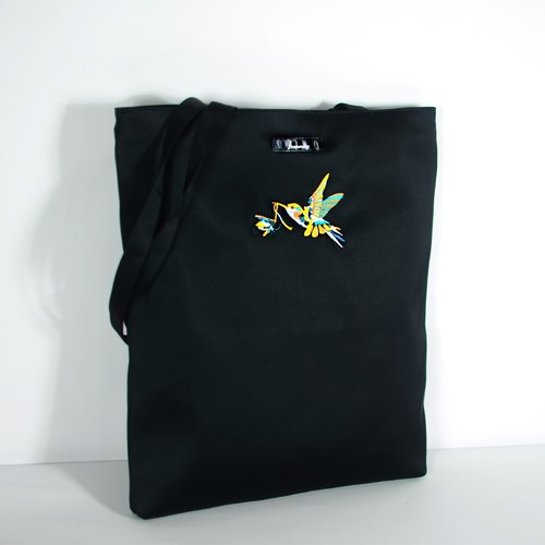 humming- ceremony flowers hummingbirds Embroidery Bag <Embroidery Tote>