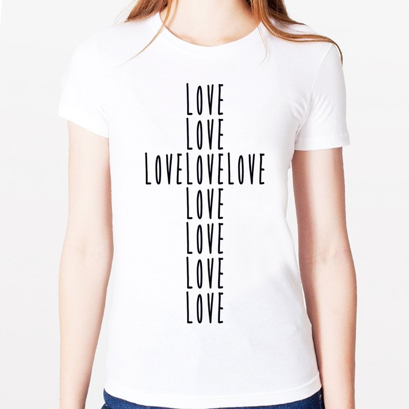 LOVE CROSS Girls T-shirt -2 color cross love the design character of Jesus Christ of Our Lady of religion