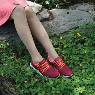VPEP jogging shoes / dark red powder orange /