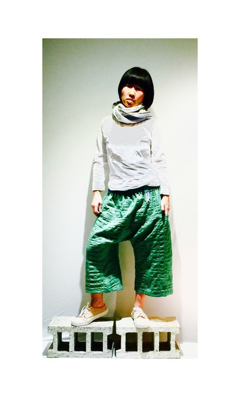 g5602 Green Grid handsome styling Pants