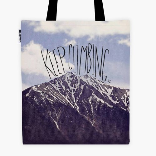 Filament - canvas bag - Keep Climbing