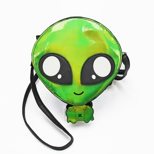 Sleepyville Critters - Green Baby Alien Shoulder Crossbody Bag