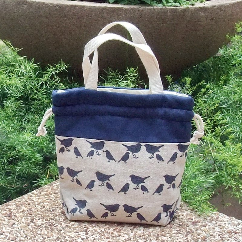 Silverbreeze ~ 3 in 1 hand bag / shoulder bag / cross body bag ~ Navy birds