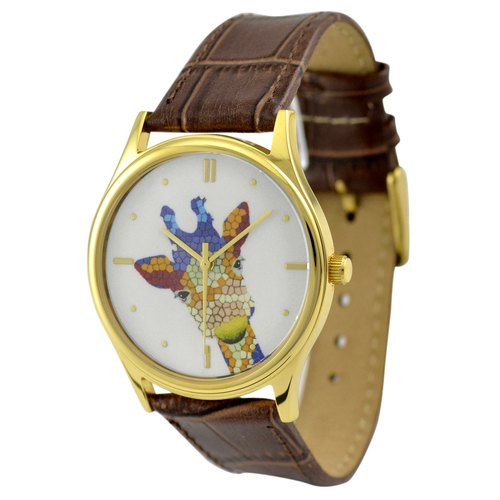 Giraffe Watch (colored) gold shell