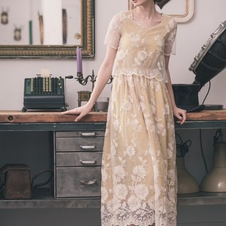Kan's Vintage Victorian Classic Lace Dress