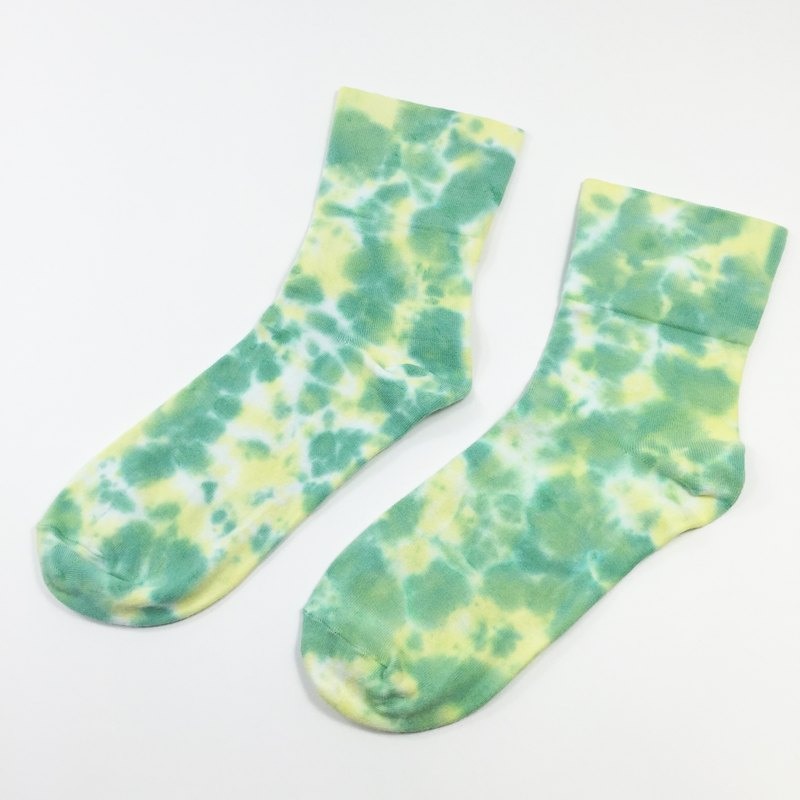 Tie Dye/Socks/Women/Men [Grass]