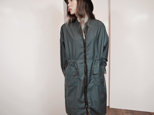 Trench coat With Faux-Paneled  Trim