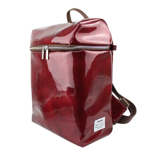 AMINAH- red shiny mirror backpack after [am-0279]