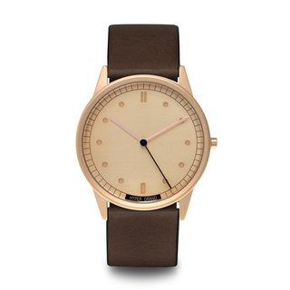 HYPERGRAND - Rose Gold Rose Gold Brown Leather Watch