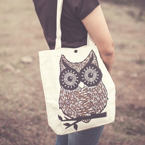 [Series] owl TEKO forest department cotton bag