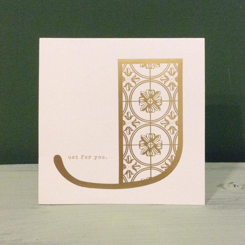 Bronzing letter card envelope sticker set -J
