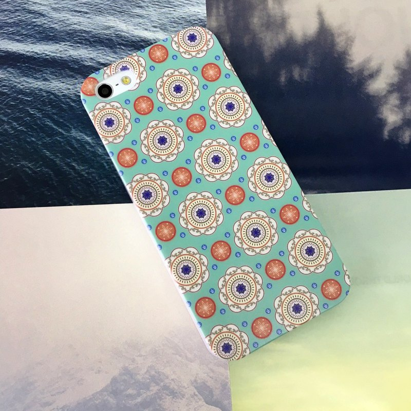Green Kaleidoscope Pattern Print Soft / Hard Case for iPhone X,  iPhone 8,  iPhone 8 Plus,  iPhone 7 case, iPhone 7 Plus case, iPhone 6/6S, iPhone 6/6S Plus, Samsung Galaxy Note 7 case, Note 5 case, S7 Edge case, S7 case