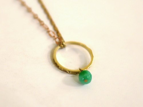 Necklace and ring natural stone: small parts series [Jewelry] Jin Xialin ‧