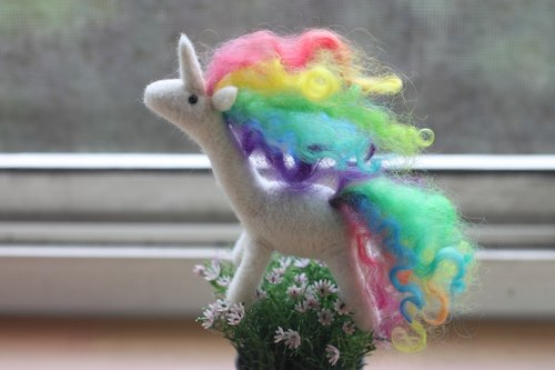 Rainbow Pony Necklace Custom Made