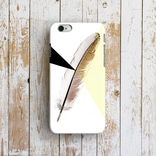 Feather, - Designer iPhone Case. Pattern iPhone Case. One Little Forest