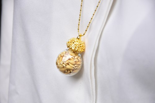 ∥Cheng Jewelry∥A / Ω winter yellow seeds fall chain