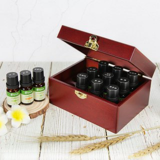 [Herbal Truth] twelve grid wooden box essential oil group (10ml x12)