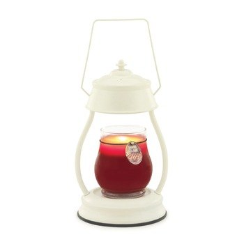 Retro candle fragrance oil lamp - White