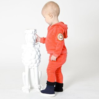 [Design] Nordic organic cotton zipper hoodie _ BABY orange Shampoodle Sweden Kids
