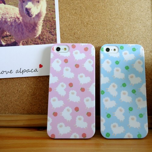 Blue Running Clover Alpaca Pattern Print Soft / Hard Case for iPhone X,  iPhone 8,  iPhone 8 Plus,  iPhone 7 case, iPhone 7 Plus case, iPhone 6/6S, iPhone 6/6S Plus, Samsung Galaxy Note 7 case, Note 5 case, S7 Edge case, S7 case