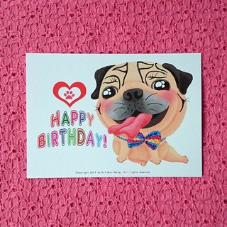 Postcard-Happy Birthday Pug-07
