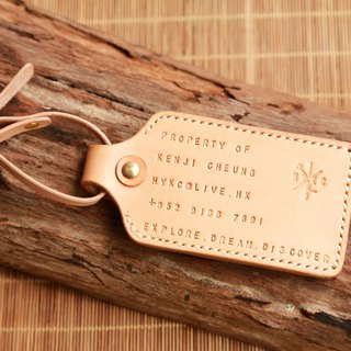 Personalise Luggage Tag, Extra Card Slot, Handstitched, Letter Engrave