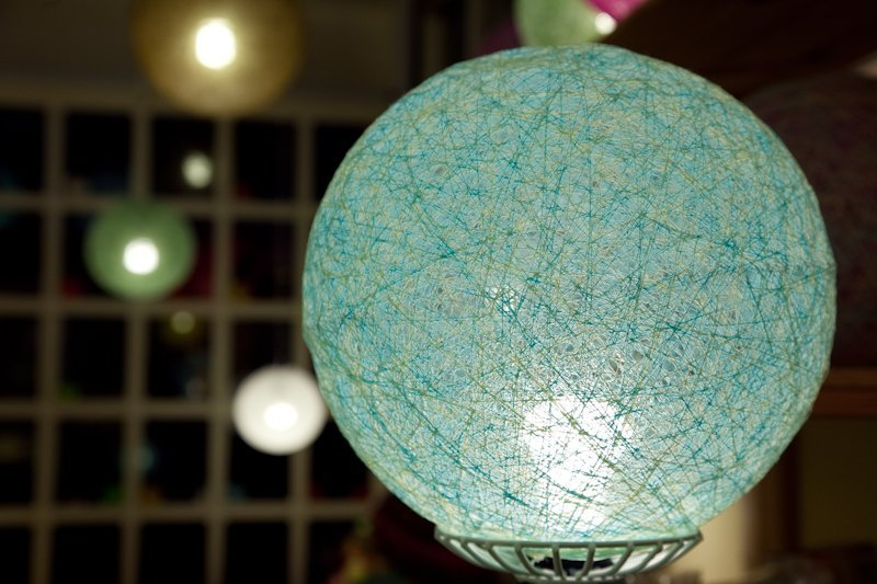 Breeze Breeze] [hand-woven ball lampshade