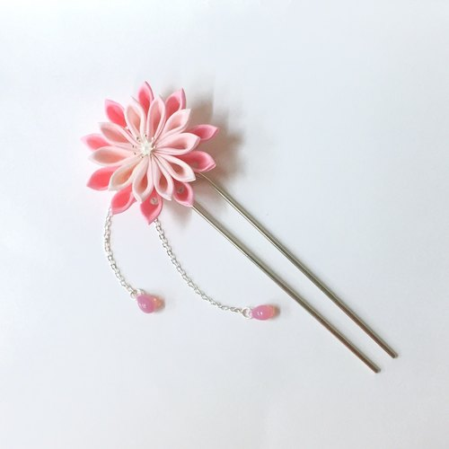 [If Mulberry] daisy night. Hairpin section eight chrysanthemum zu ma late fine Japanese cloth flower hairpin geisha / kabuki flower hairpin / kimono hair accessories / bathrobe hair accessories / fine hair accessories / Japanese flower head