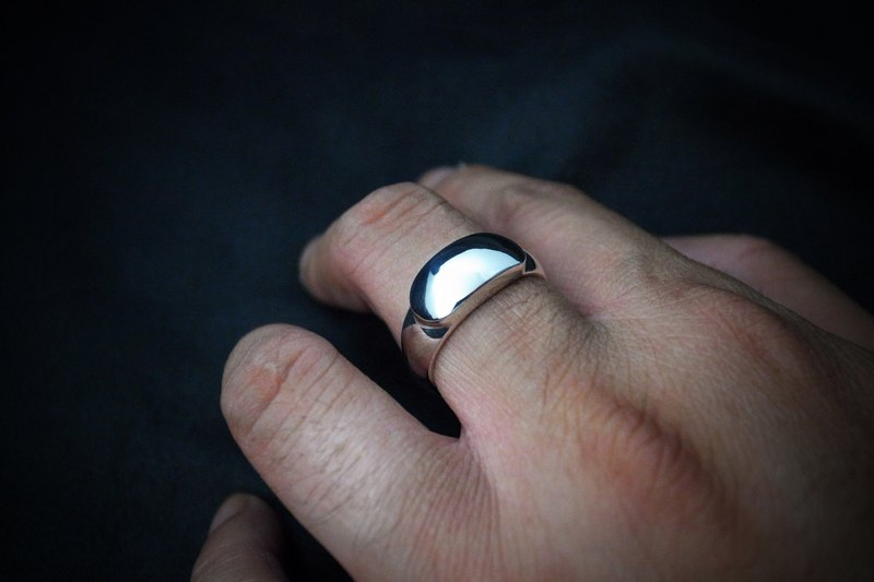 【Chinese saddle-style face ring】 (sterling silver ring / prime ring / simple / customizable lettering / couple ring / ring / ring)