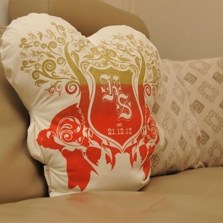 Whatiif ... custom made type (medium) handmade silk prints pillow