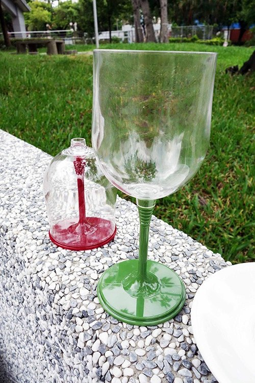 Olive green (1pc) -Outdoor Wine Glass- plastic cups red wine goblet outdoor picnic camping mug gift