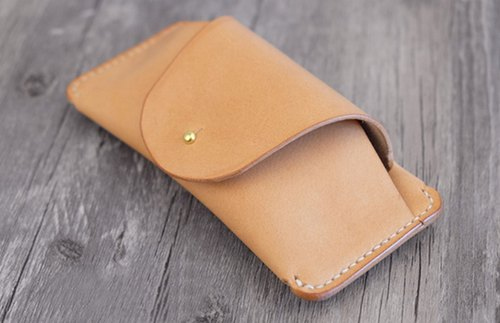 Handmade vegetable tanned leather glasses case