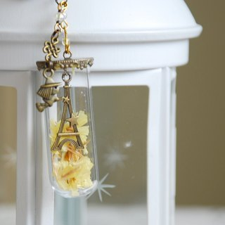 :: Cat Princess:: Glass World. Tower under the stars / / key ring / charm