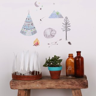 Fox asleep mini < love mae Australia nontoxic patent wall stickers >