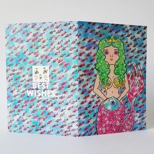 Green hair mermaid princess and her mysterious pearl Universal Card