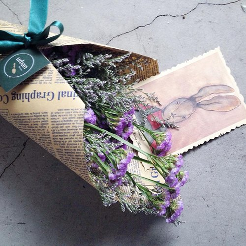 ◆ Friendship friendship boat / Star dried bouquets (packaging and ribbons)