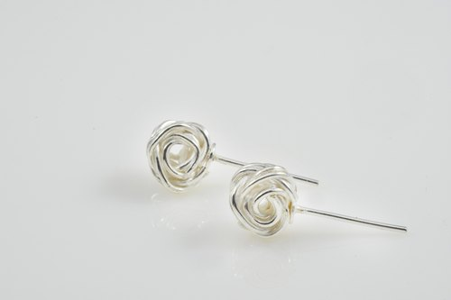 Pure handmade silver earrings series - sweet
