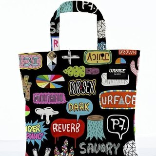 [URFACE] 2nd Artist Series / P7 design limited edition Shopping Bag / graffiti
